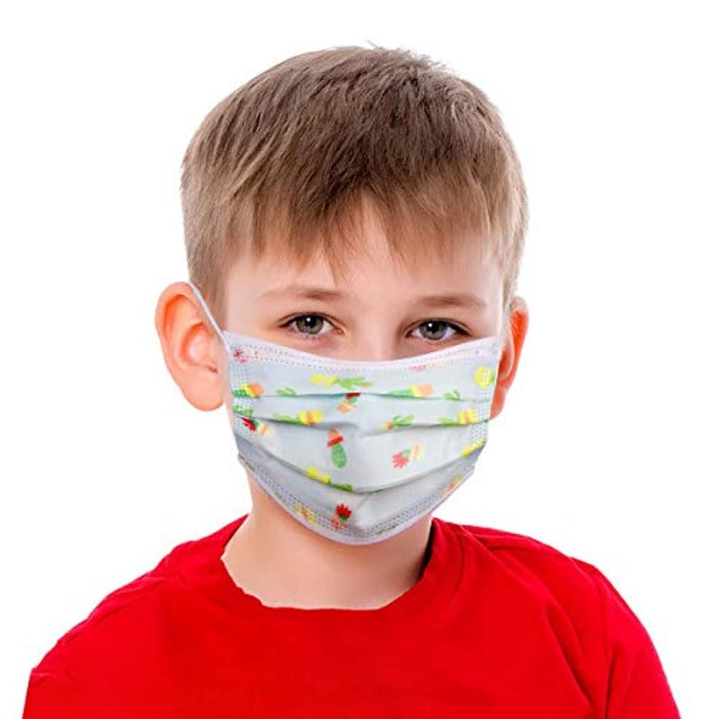 50 Piece Disposable Kid's Face Masks