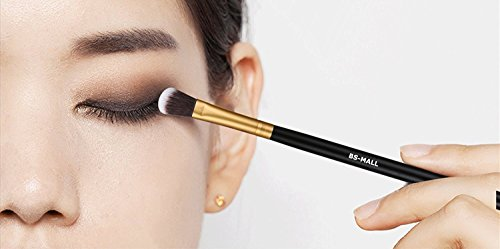 BS-MALL(TM) Premium 14 Pcs Synthetic Foundation Powder Concealers Eye Shadows (Golden Black)