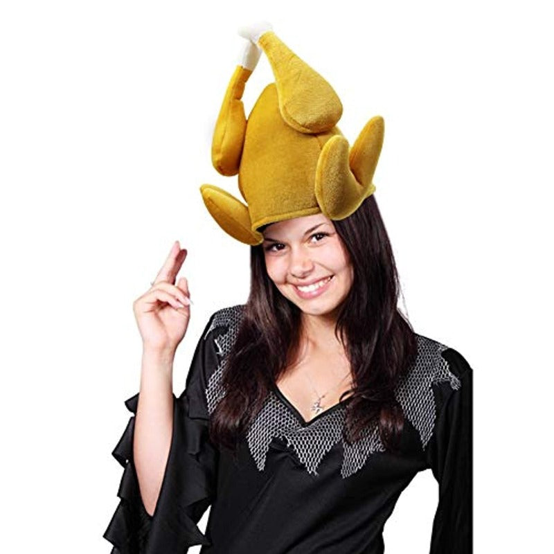 3 Pack: Unisex Roasted Turkey Hat