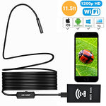 PECHAM 11.5FT Wireless WiFi USB Waterproof Endoscope Inspection Camera for Smart Devices