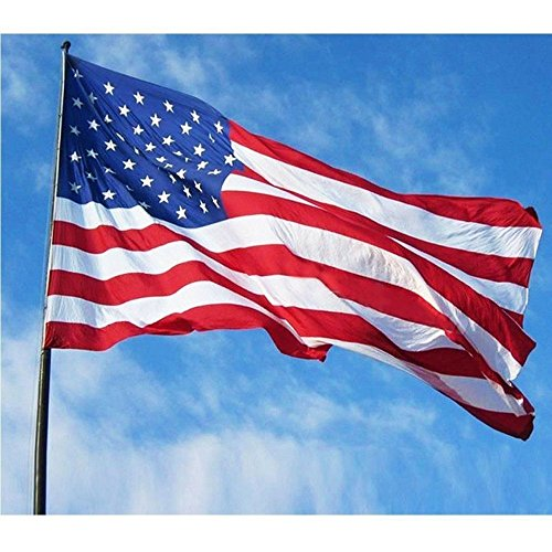 2 Pack: 3x5 Foot Traditional USA American Flag & Law Enforcement USA American Flag