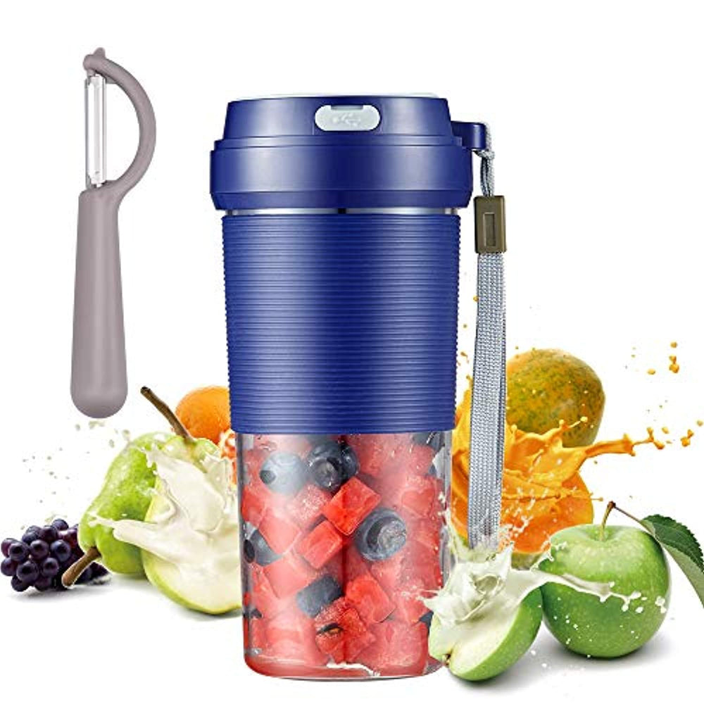 Portable Blender, Cordless Mini Personal Blender Small Smoothie Blender USB Fruit Juicer Mixer - Home Outdoor Travel Office - USB Rechargeable