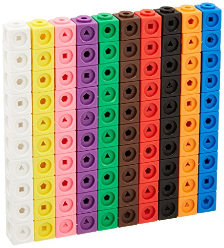 Learning Resources Mathlink Cubes, Educational Counting Toy, Set of 100 Cubes