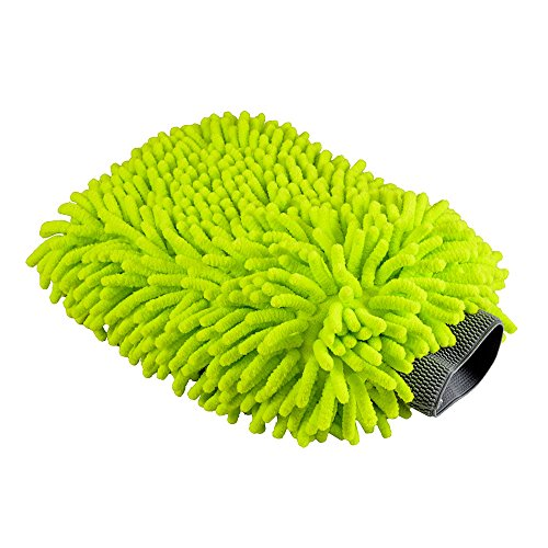 Chemical Guys Microfiber Premium Scratch-Free Wash Mitt, Lime Green