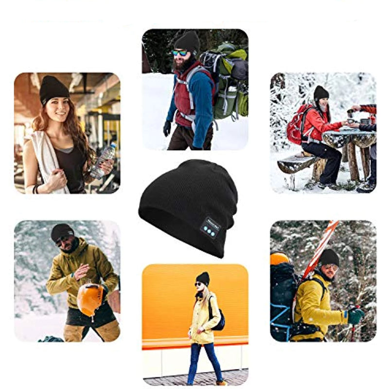 Rechargeable V5.0 Bluetooth Unisex Wireless Beanie Winter Hat
