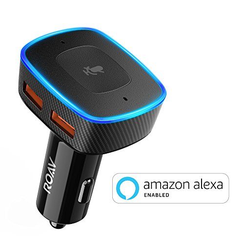 Alexa-Enabled 2-Port USB Car Charger for Hands-Free Navigation, Calling & Music