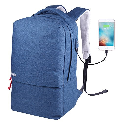 Alice Dreams Laptop Backpack, Anti-theft Water Resistant Travel laptop backpack with USB Charging Port School Bookbag for College Travel Backpack designed for 15.6-Inch Notebook,
