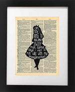 Vintage Alice in Wonderland Imagination Quote Art Print