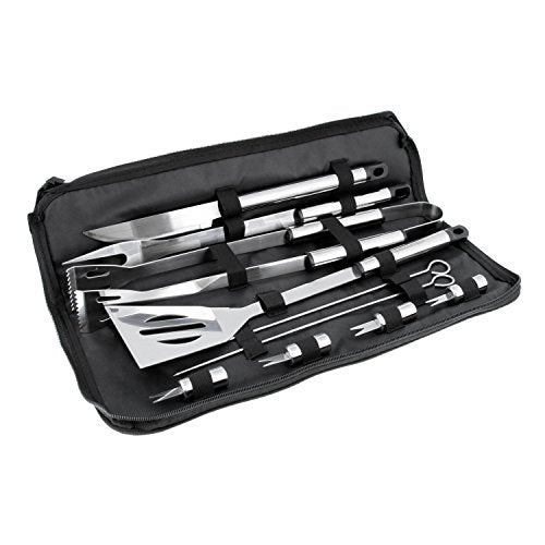 BBQ Masters Professional BBQ Grill Tool Set with Storage Case