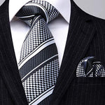 Men's Handmade Necktie Set with Free Pocket Square