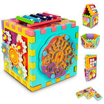 6-in-1 Kids Activity Tangram Gears Magnetic Maze Cube