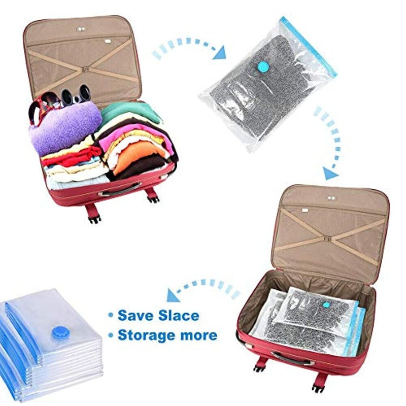 6 Pack Space Saver Storage Bags with Free Hand Pump