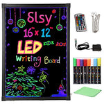 Illuminated LED Erasable Message Writing Board with Fluorescent Markers & Remote Control