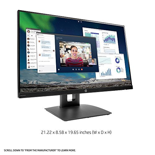 HP 23.8-inch FHD IPS Monitor with Tilt/Height Adjustment and Built-in Speakers (VH240a, Black)