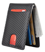Men's Slim Leather RFID Blocking Bi-Fold Wallet
