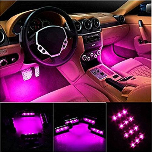 4 Piece: Interior Light-LED Car Lighting Kit