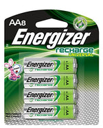 Energizer Rechargeable AA Batteries, NiMH, 2000 mAh, Pre-Charged, 4 count (Recharge Universal)