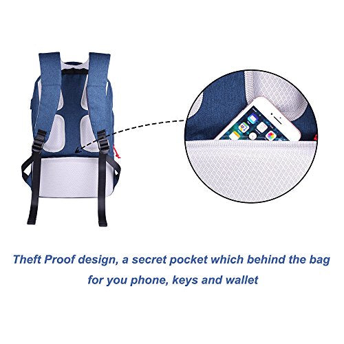 Anti-Theft Water Resistant Laptop Travel Backpack with USB Charging Port