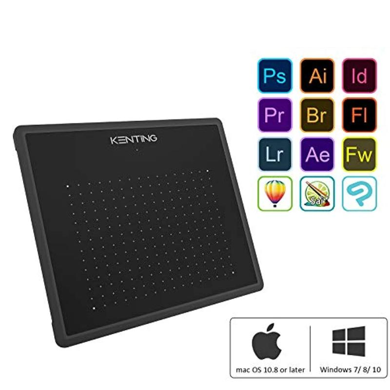 6.7 Inch USB Graphic Drawing Tablet with Pen and Glove for Mac and Windows