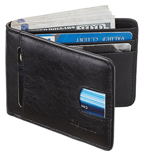 black wallet open