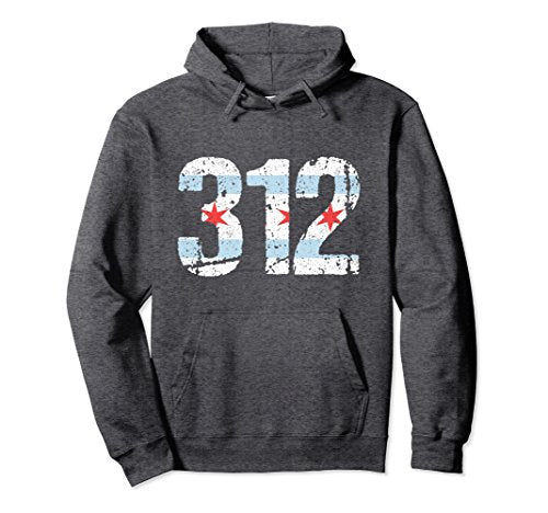 Chicago Hoodie Chicago Flag 312 Area Code City Vintage