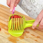 Perfect Kitchen Utensil Handheld Round tomato potato onion Slicer chopper Fruits Vegetables Cutter gadget with a FREE orange peeler