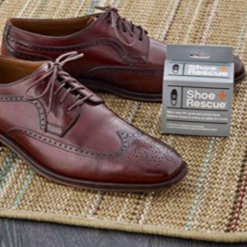 ShoeRescue All Natural Cleaning Wipes for Leather & Suede Shoes & Boots for Dirt, Salt Stains