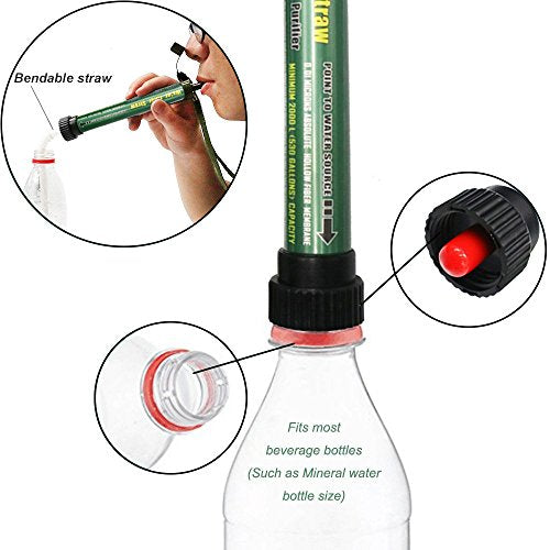 Camping & Hiking Portable Emergency Water Purification Filter Straw