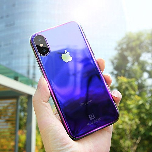 Ultra Thin Lightweight Colorful Gradient Electroplating iPhone X Case