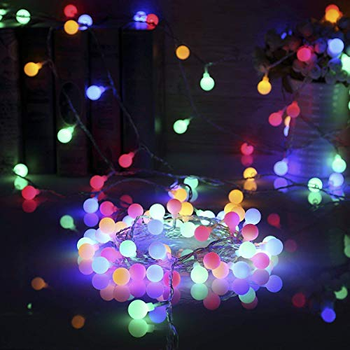 40 LED 14.8ft Waterproof Battery Powered Ball String Lights with 8 Modes