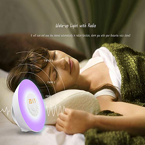 Sunrise Wake Up Light Alarm Clock with Touch Control
