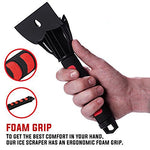 Best Ice Scraper With Water Proof Storage Bag  - Ultra Durable Ice Chisel With Foam Grip for Scraping Ice From Car and Truck Windows and Windshields - So Good We Back it with a 10 Year