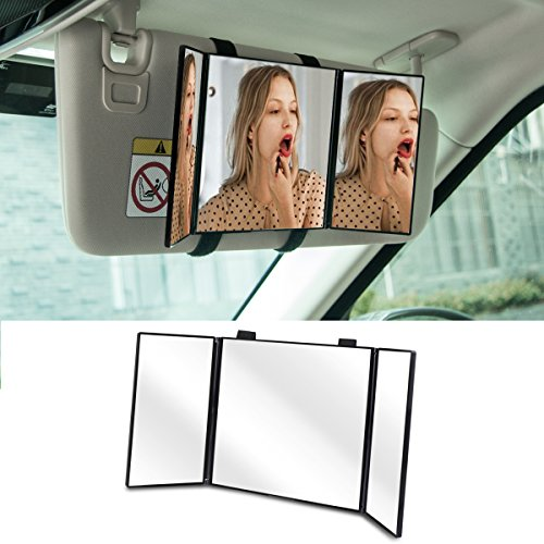 Travel Car Visor Makeup Mirror