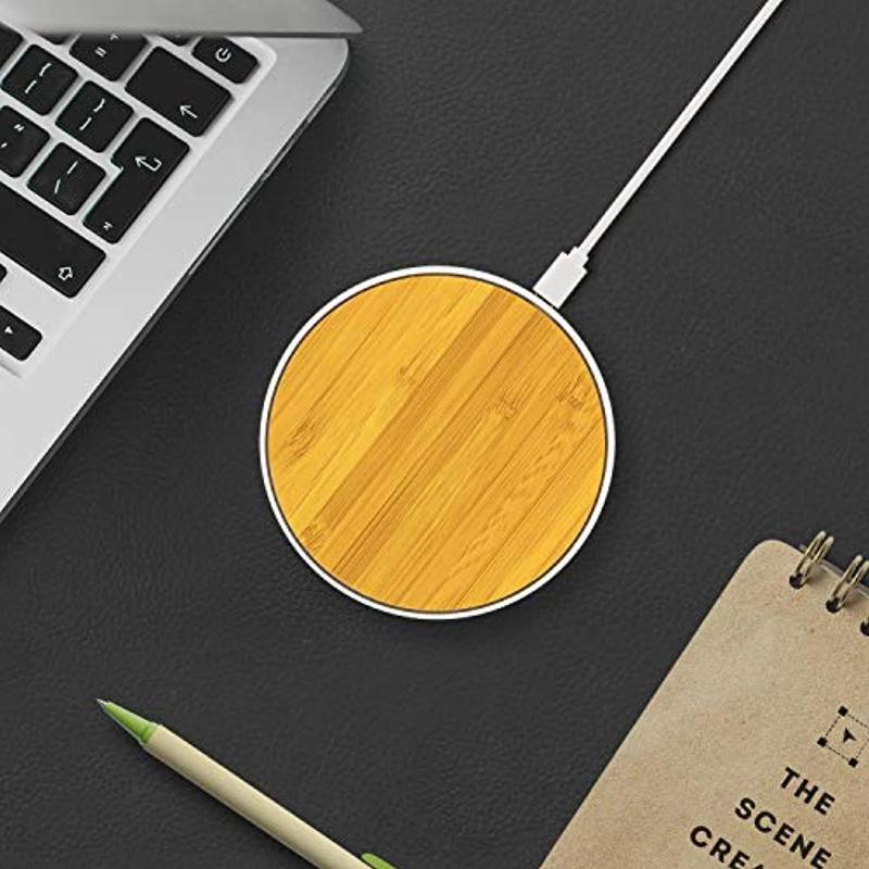 Wireless Bamboo Wood Ultra-Thin Charger for Samsung-Nokia-LG-iPhone-Qi-Enabled Devices