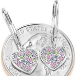 Kids Multi-Color 925 Sterling Silver Heart Earrings