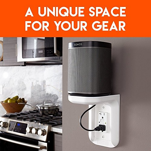 ECHOGEAR Electrical Outlet Shelf (Holds Up to 10lbs)