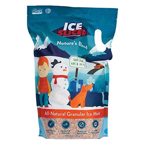 Redmond Ice Slicer - Ice Melt Salt, Kid & Pet Safe Deicer, All-Natural Granular Slicer 10 Lb Bag