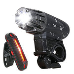 Super Bright LED Rechargeable Bicycle Headlights & Tail Lights