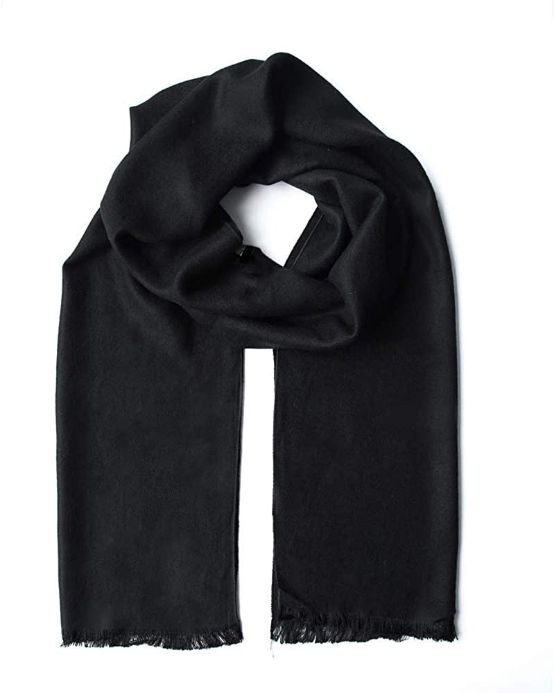 WY Thick Cashmere Scarf For Men Gift Idea Extremely Warm Super Soft Wool Scarf For Winter Autumn And Spring