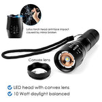2 Pack: High Lumen LED Tactical water Resistant Zoomable Flashlight