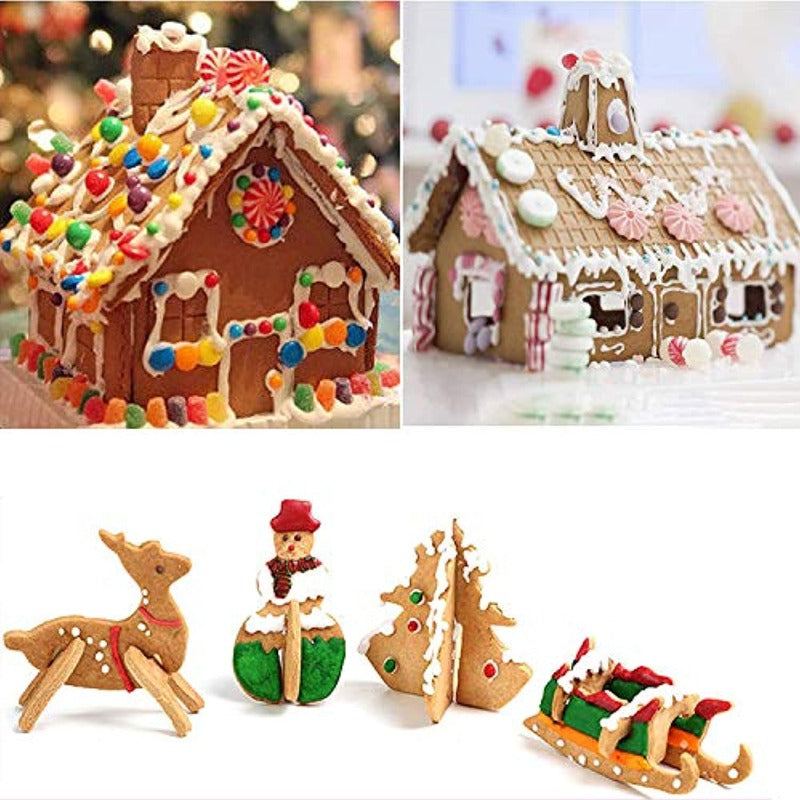 3D Gingerbread House Cookie Cutter Set