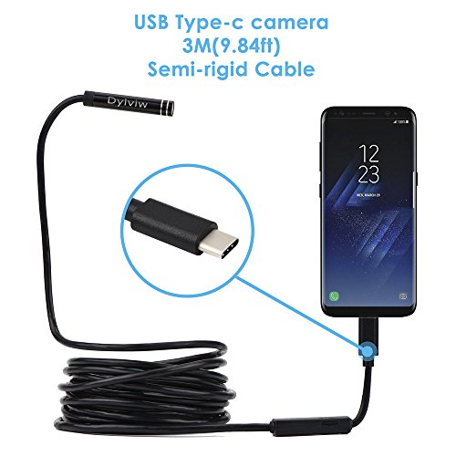 Rigid Cable Type C USB Borescope 2.0 Megapixel HD Inspection Camera for Smart Devices