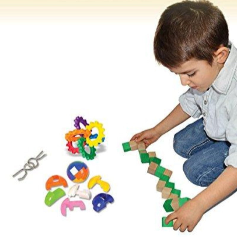 7 Piece Kids Educational IQ Challenge Brain Teaser Set