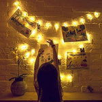 Battery Operated LED Hanging Decorative Picture Photo Clip String Lights