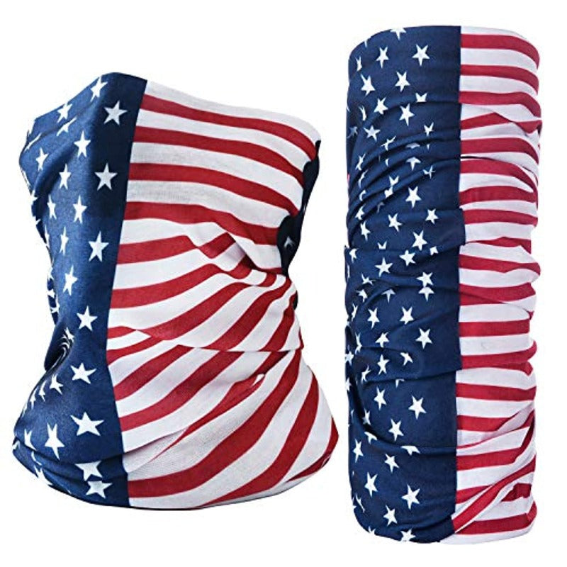 2 Piece American Flag Neck Gaiter