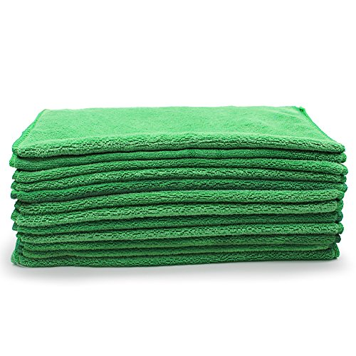 Reusable Microfiber Cleaning Cloth Set - 12 x 12 Inch Microfiber Cloth
