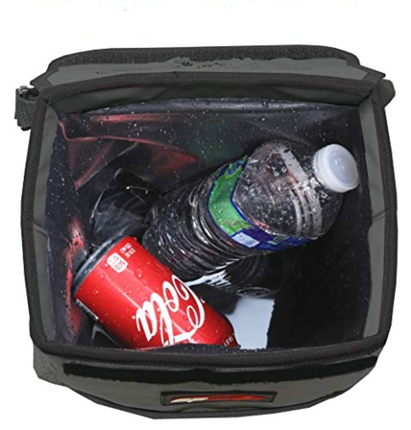 Waterproof Vehicle Trash Can with Lid and Storage
