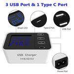 4-Port USB Charger Travel Fast Wall Charger