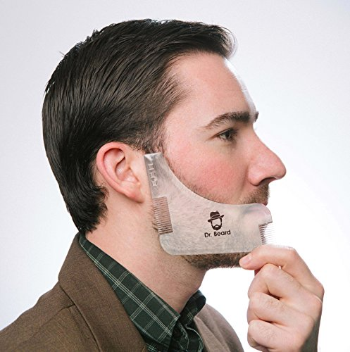Beard Shaping Tool with Built-In Comb