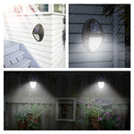 4 Pack: Solar Powered Outdoor Wireless Motion Sensor Wall Mount Lights